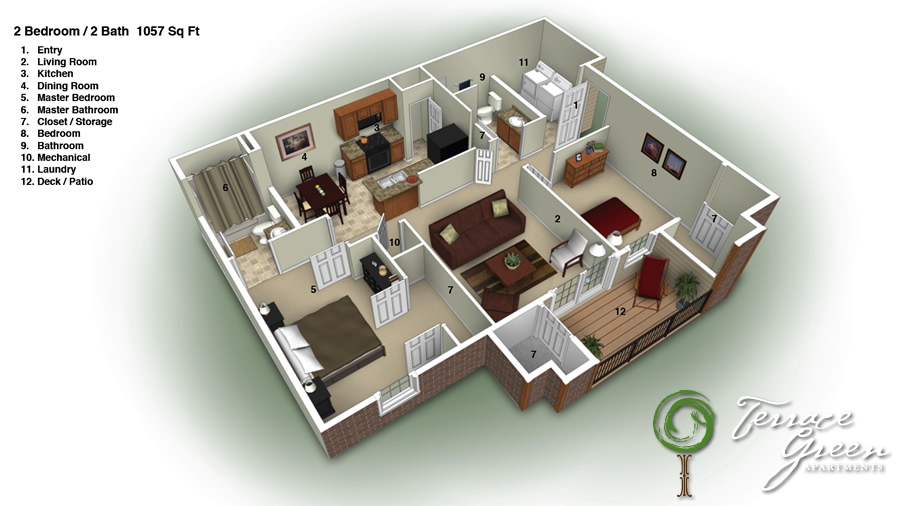 Apartments With 3 Bedrooms And 2 Bathrooms